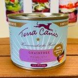 ハーフ缶新発売!≪穀物・乳製品不使用のコンプリート食(総合栄養)≫テラカニス グレインフリー 鹿肉 200g