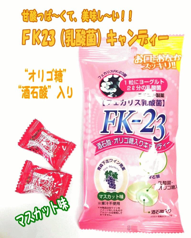 画像1: 【お口もお腹もすっきり!】FK-23菌 フェカリス菌 酒石酸オリゴ糖入りキャンディー 10個入り